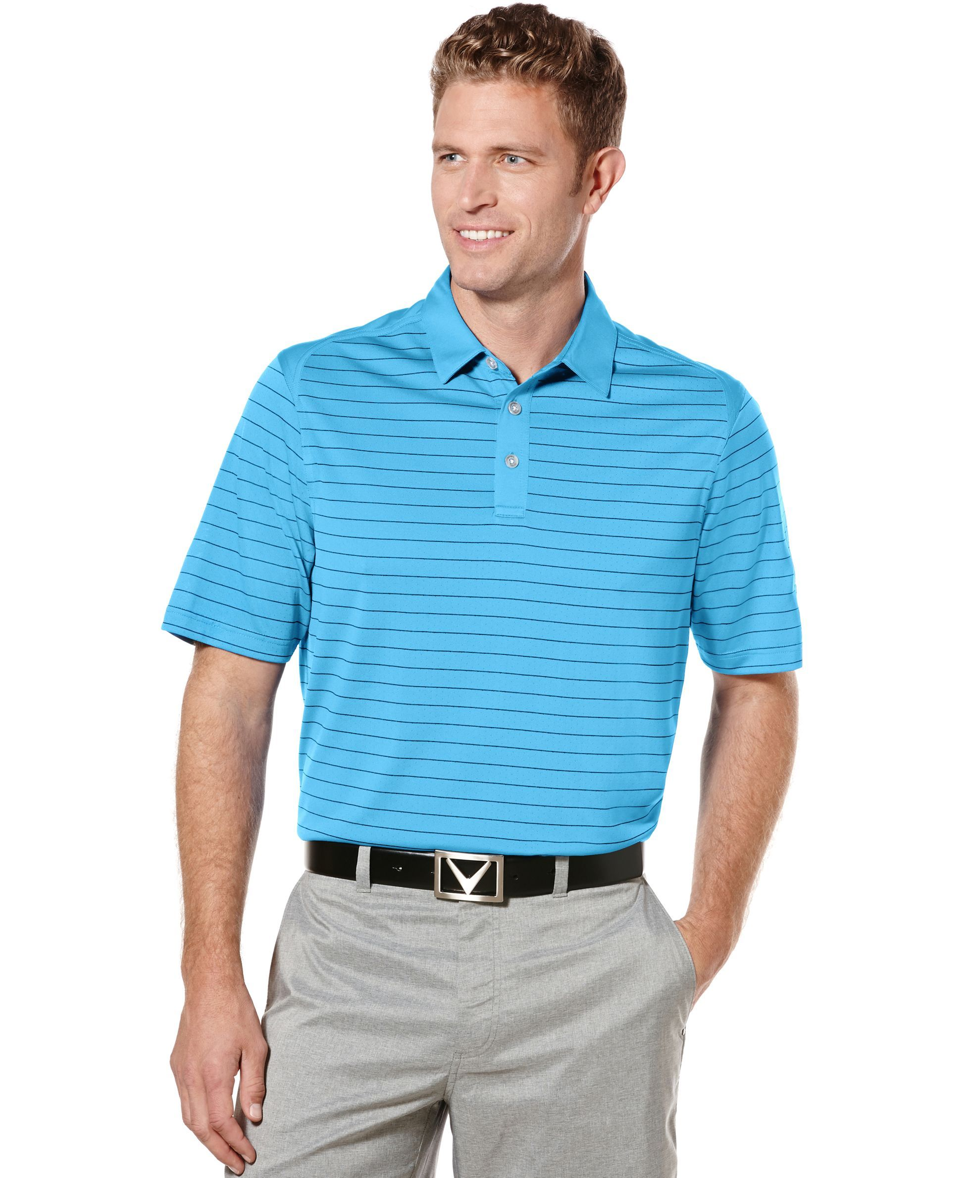 5d6d3626 Callaway Opti-Dri Striped Performance Golf Polo | Products | Polo ...