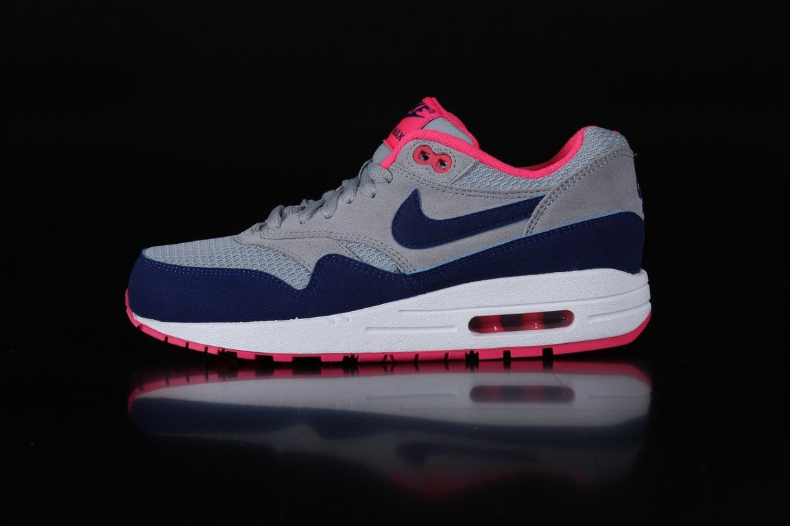 pretty nice 8fc30 5e9a2 ... clearance nike airmax 1 essential sneakers wmns light magento grey dp  ryl blue hyper pink 599820