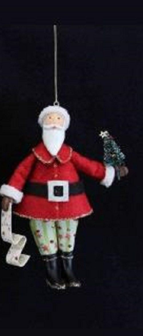 Gisela Graham Santa Claus Father Christmas Hanging Christmas Tree Decoration  (Holding Tree): Amazon - Gisela Graham Santa Claus Father Christmas Hanging Christmas Tree