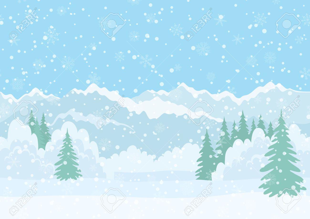 snowy winter vector winter landscapes winter landscape. Black Bedroom Furniture Sets. Home Design Ideas