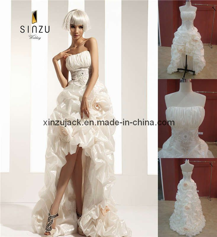 Short To Long Wedding Dresses China Short Front Long Back Strapless Wedding