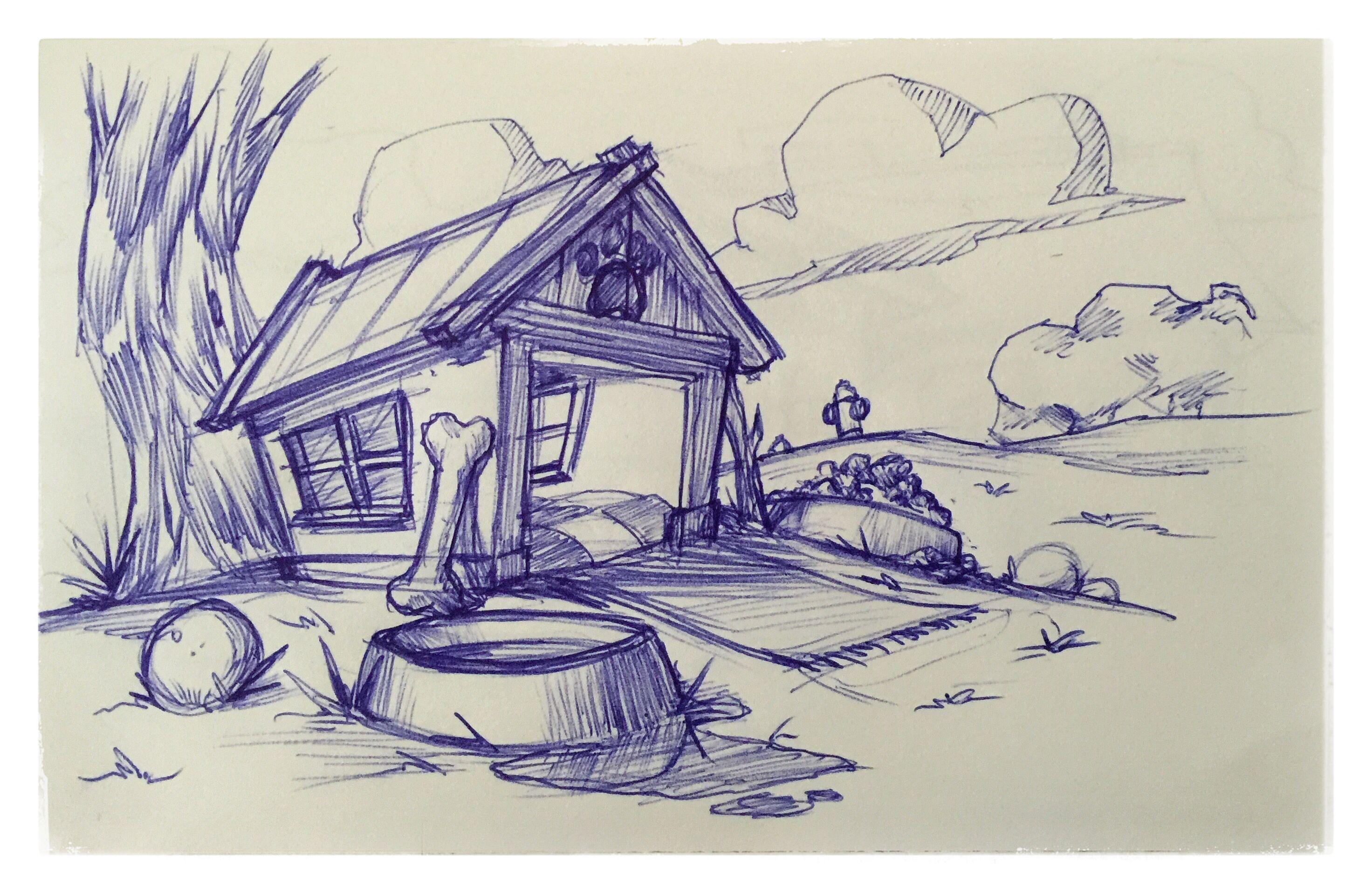 29 Dog House Doghouse Heaven Cartoon Animated Background
