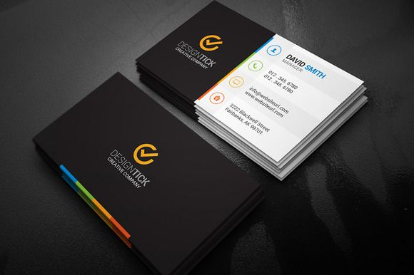 Modern business card template card templates business cards and modern business card template by made by arslan on creativemarket fbccfo Gallery