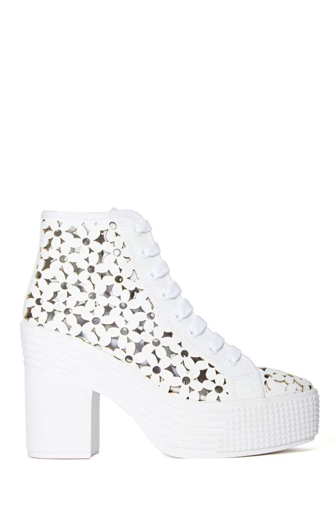 47430e698f3 JC Play by Jeffrey Campbell As If Platform Boot White Daisies - Nasty Gal
