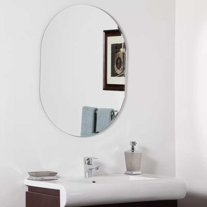 Pulbrough Modern Wall Mirror With Images Modern Mirror Wall Oval Mirror Bathroom Modern Bathroom Mirrors