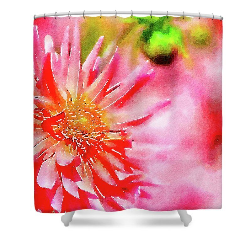 Dahlia Watercolor Shower Curtain For Sale By Bonnie Bruno
