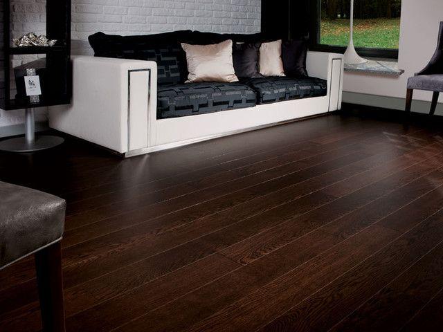 Dark Brown Wood Floor