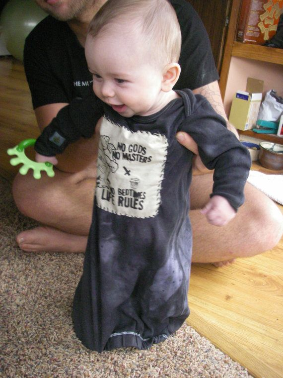 b8d7dcecfbda Punk Rock Anarchist Baby TMNT Sleepsack Unisex by ItsyPunx (No Gods No  Masters. No Bedtimes. LIFE RULES)
