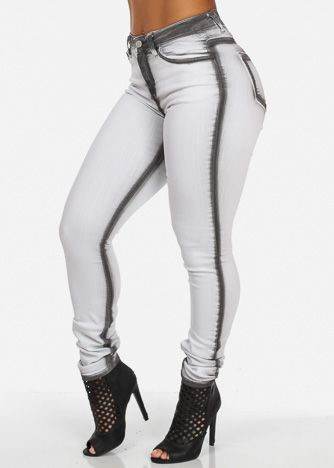 High Rise Skinny Jeans (Faded Gray