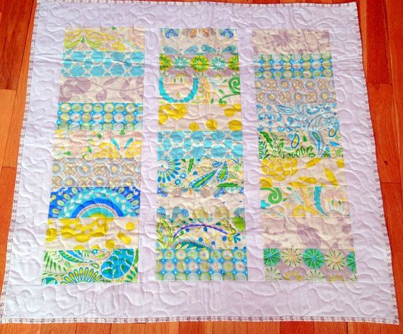 Kumari Garden Collection Baby Quilt by SewingbyJenn on Etsy, $125.00