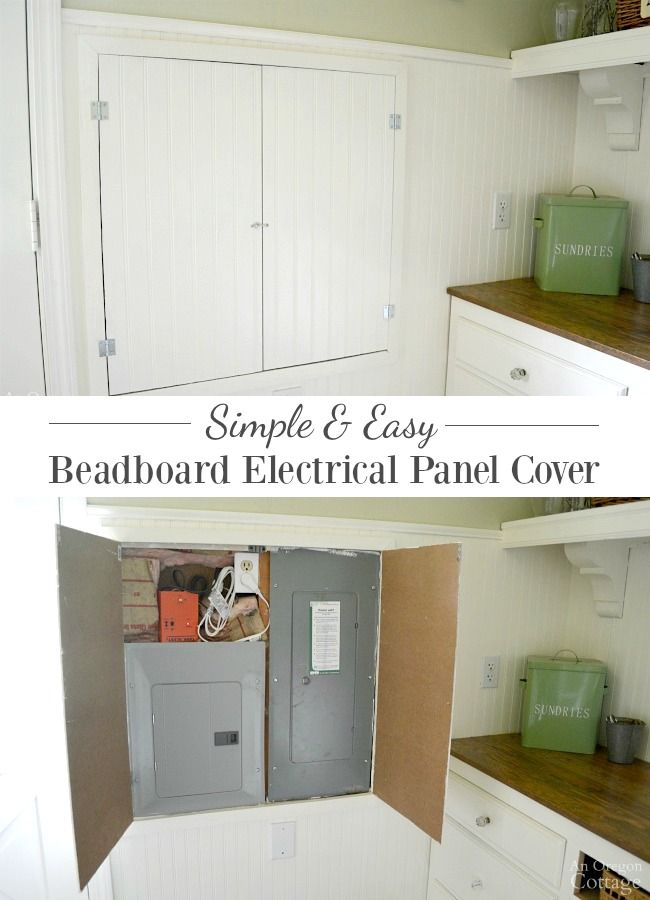 DIY Beadboard Electrical Panel Cover & Cabinet Faux Double