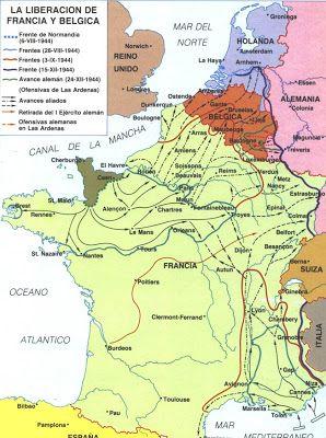 II Guerra Mundial: Liberación de Francia y Bélgica