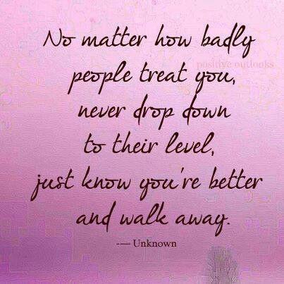 Walk away