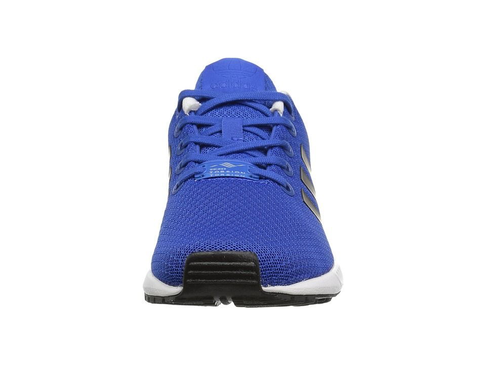 f476e5ddfa05 adidas Originals Kids ZX Flux (Big Kid) Boys Shoes Blue Core Black Footwear  White