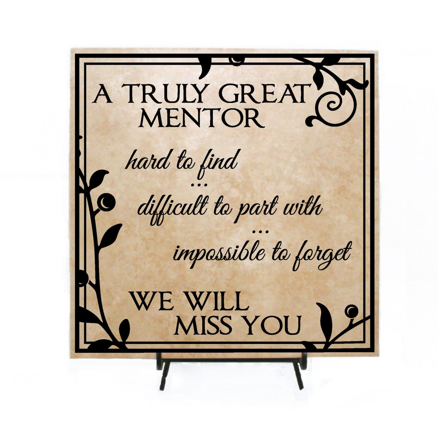 a truly great mentor personalized retirement gift thank you appreciation gift thank