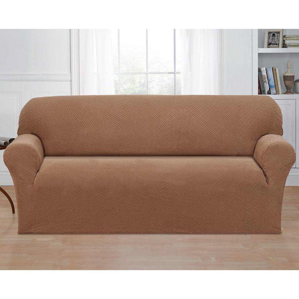 Madison Basketweave Stretch Sofa Slipcover