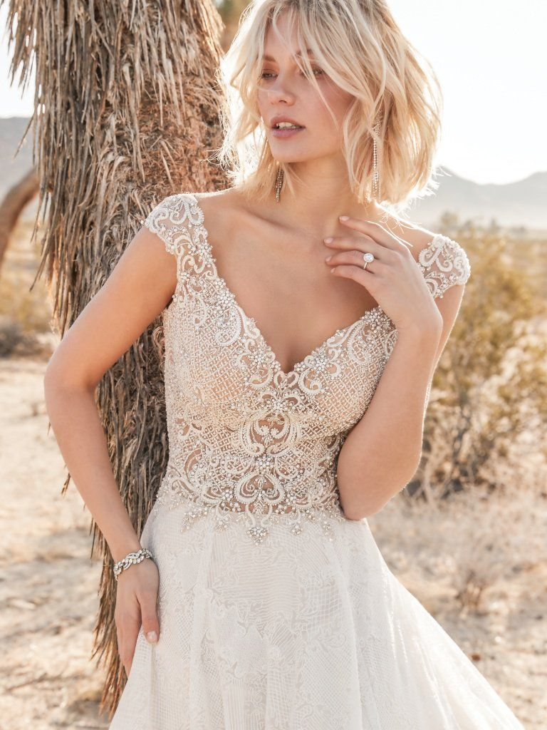 Owen Beaded Lace Motifs And Swarovski Crystals Adorn The Sheer Bodice Of Th Wedding Dresses Whimsical Sottero And Midgley Wedding Dresses Ball Gowns Wedding [ 1024 x 768 Pixel ]