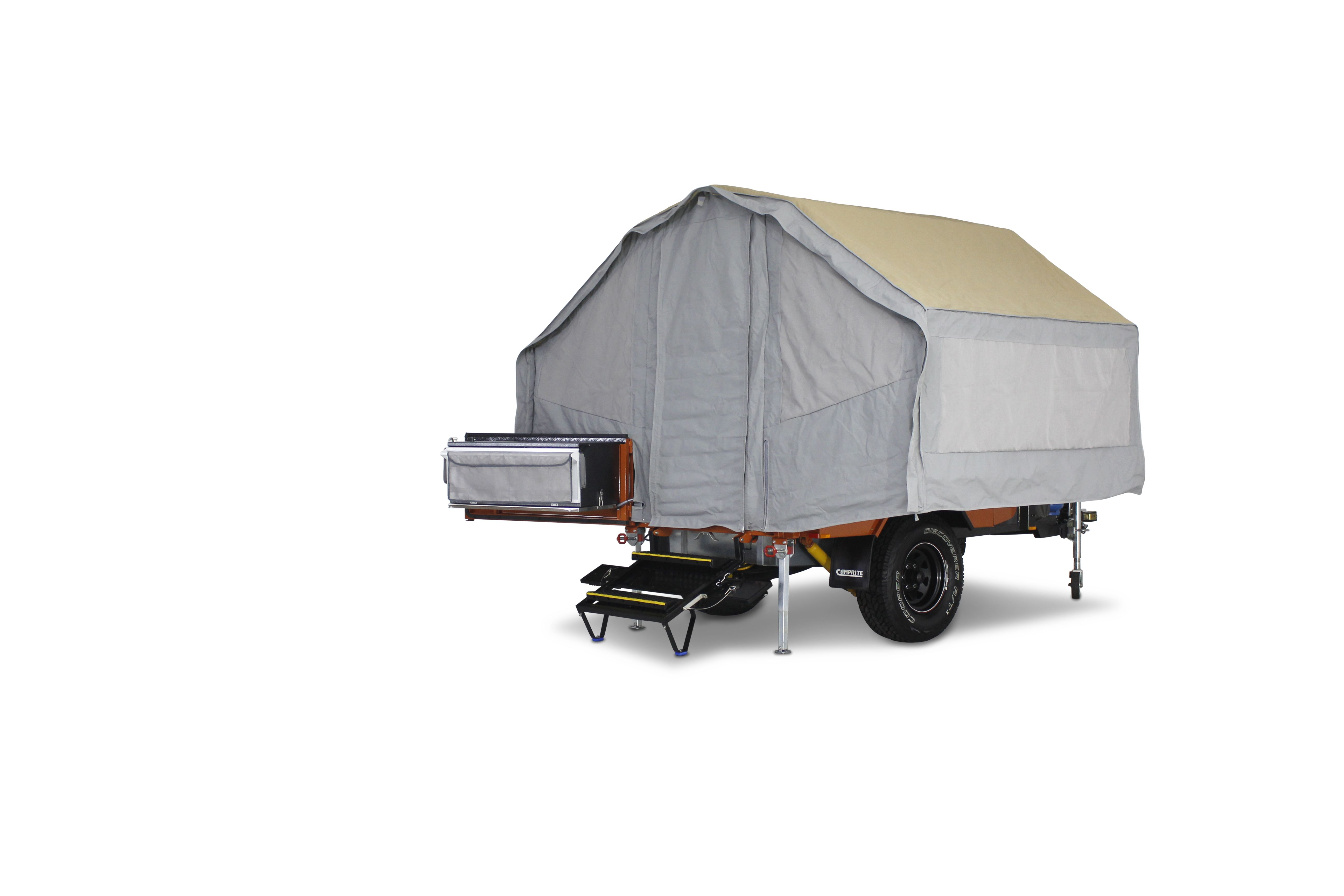 Making a quick overnight stop, or camping in a well shaded campsite, the Camprite Camper Trailer does not need to have the awning attached. Your basic camper can be fully assembled in a matter of minutes. #campingmadeeasy