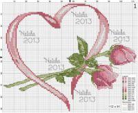 rose - flower - point de croix - cross stitch - Blog : http://broderiemimie44.canalblog.com/