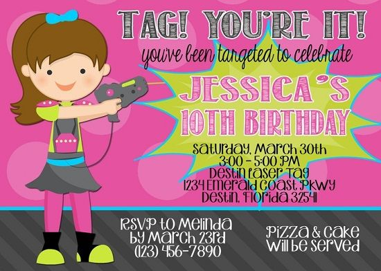 Download Laser Tag Birthday Party Invitations Ideas | FREE Printable ...