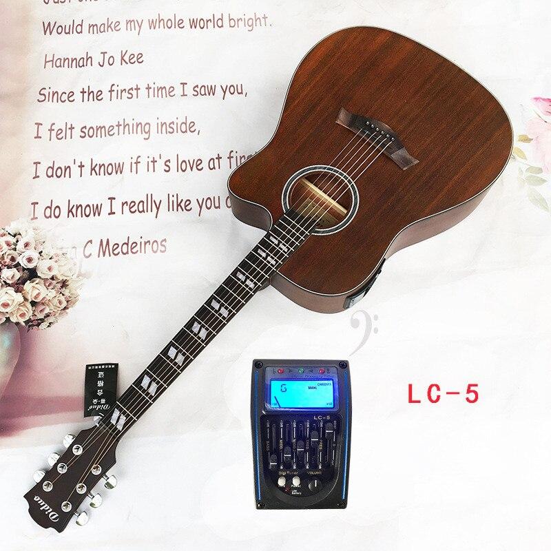 Diduo 41 Inch Acoustic Guitar Folk Guitar Rosewood Fingerboard Sapele Basswood Guitarra With Five Segment Equilibri Guitar Acoustic Guitar Semi Acoustic Guitar