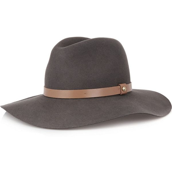 2f6dc37cb8d Rag   bone Leather-trimmed wool-felt fedora (€230) ❤ liked on Polyvore  featuring accessories