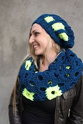 Ravelry: Eyes Cowl & Forks Hat pattern by Linda Skuja