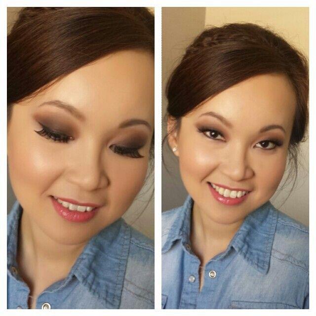 Bridal Makeup Wedding Day Asian Bride Smokey Eyes With A Pink Lip