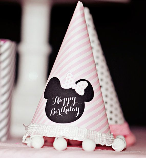 Minnie Mouse Party Hat  - Printable on Etsy, $8.00