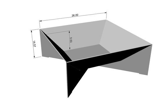 The Fin Fire Pit 36 Steel Modern Metal Bowl Firepit Top Cover