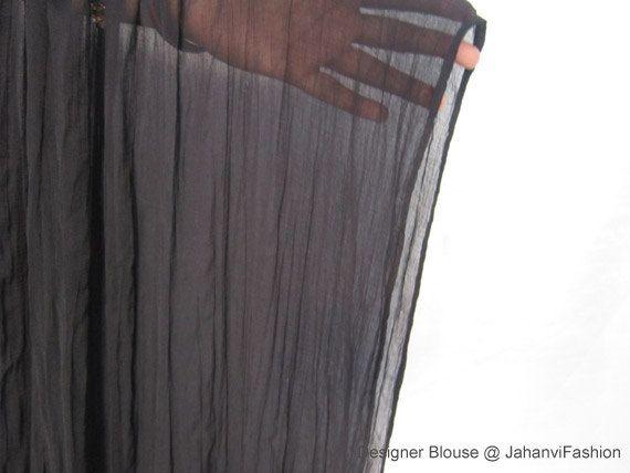 Dupattas for Women - Black ciffon dupattas by JahanviFashionShop on Etsy