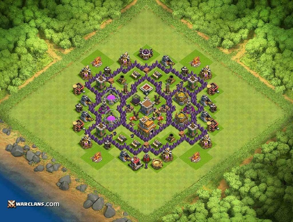Best Th7 Th7 Clash Of Clans Defensive Base Layout Seni
