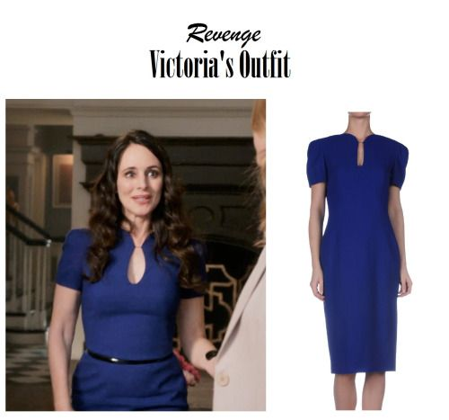 On the Blog: Victoria Grayson's (Madeleine Stowe) short sleeve midi dress | Revenge 417 - Loss #tvstyle #tvfashion #outfits #fashion