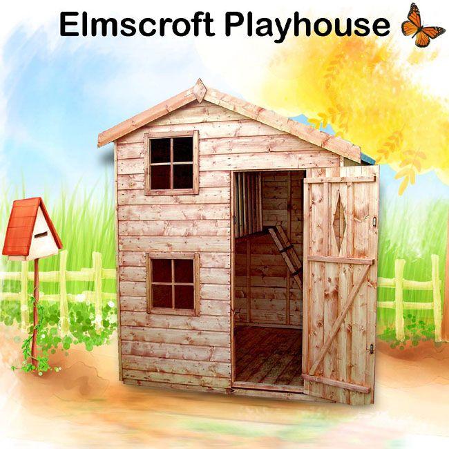 2 story outdoor playhouse with a loft garden housesgarden shedschildrens - Garden Sheds For Kids