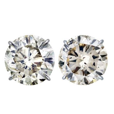 f8cd27e477280 20 Carat Total Weight Round Diamond Stud Earrings   Royal and ...