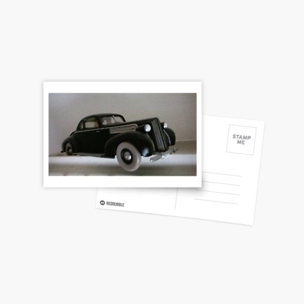Vintage Old Car Carte Postale Voiture Carte De Voeux Et Postale