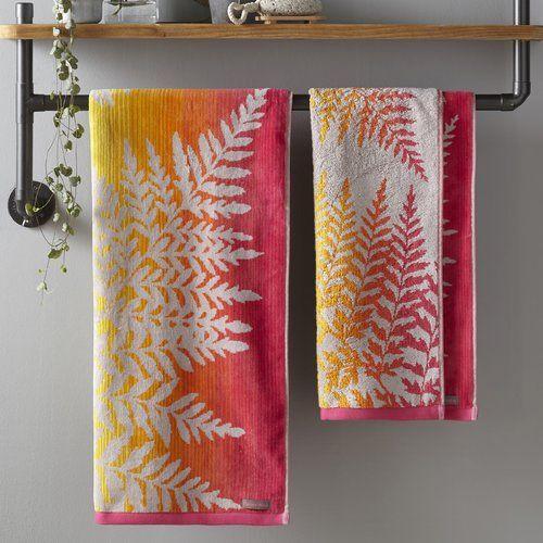 Filix Bath Towel Clarissa Hulse Colour Coral Wayfair Towel