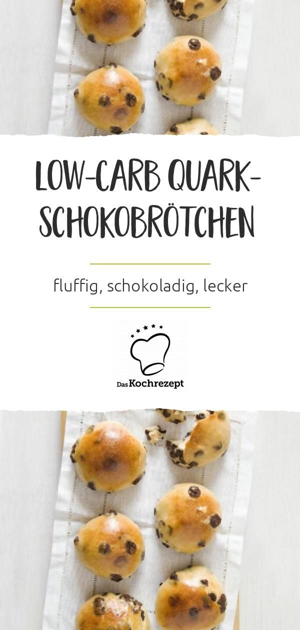 Low-Carb Quark-Schokobrötchen