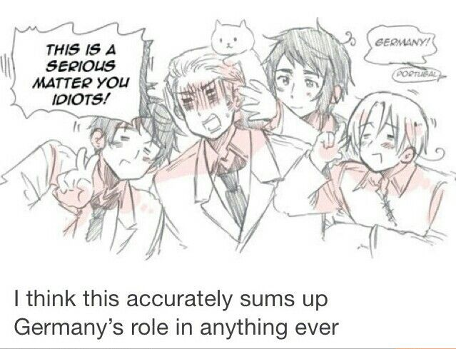 I think this accurately sums up Germanys role in anything ever