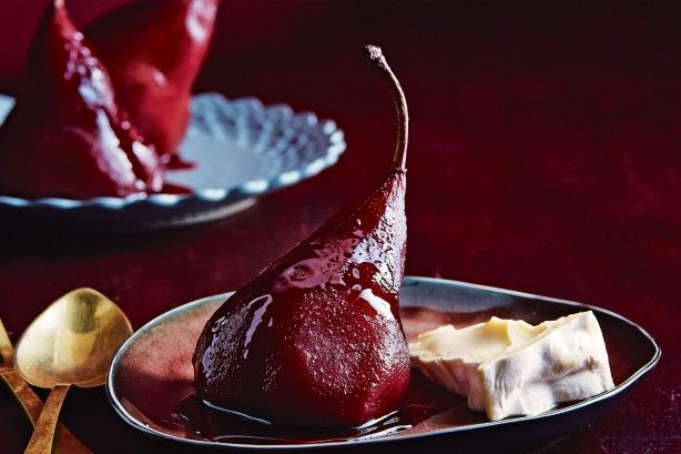 Matt Preston gives red wine poached pears a spin using mulled wine.
