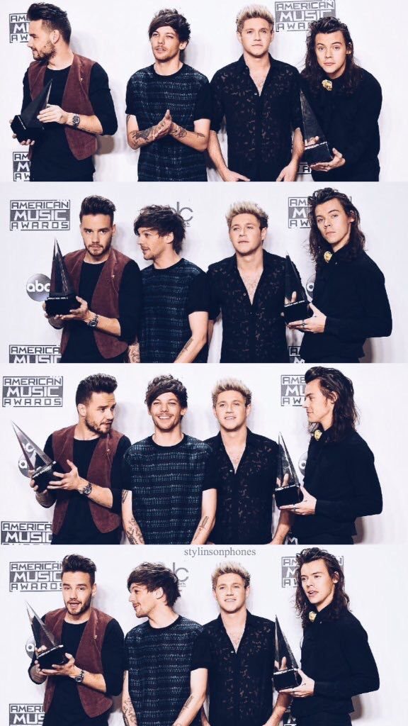 One Direction Lockscreen From Stylinsonphones On Twitter One Direction At The 2015 Amas One Direction Photos One Direction Images One Direction Wallpaper