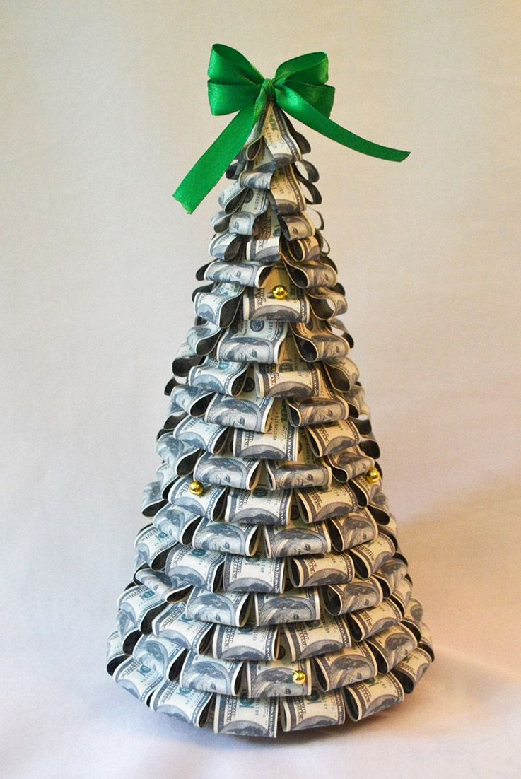 How to Make an Origami Tree out of Money | 1102x737