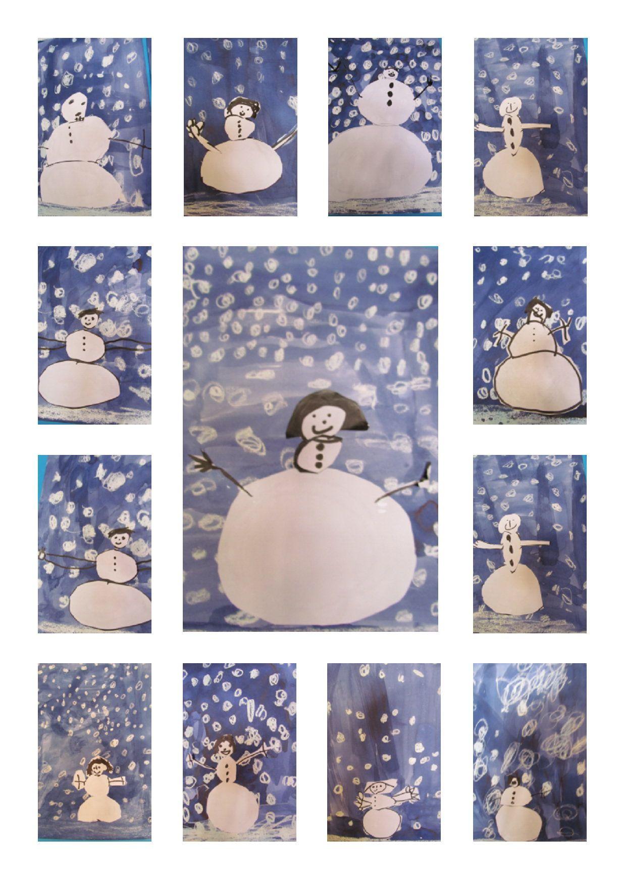 L 39 cole maternelle fr d ric mistral opio moyenne section bonhomme de neige ducation - Pinterest bonhomme de neige ...