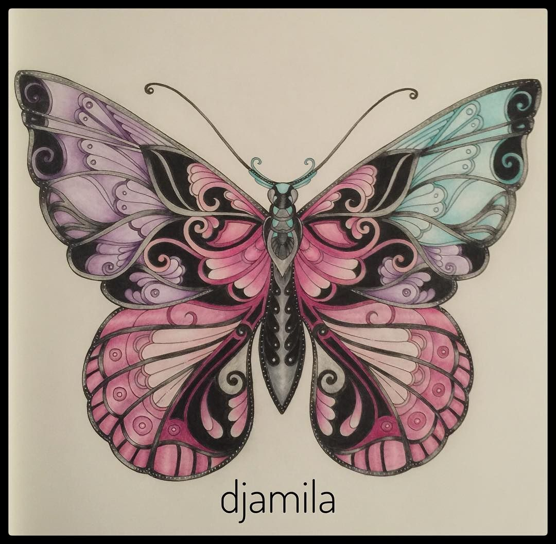 My Butterfly From Magical Jungle Magicaljungle Magicaljunglebutterfly Johanna Basford Coloring Butterfly Art Basford Coloring