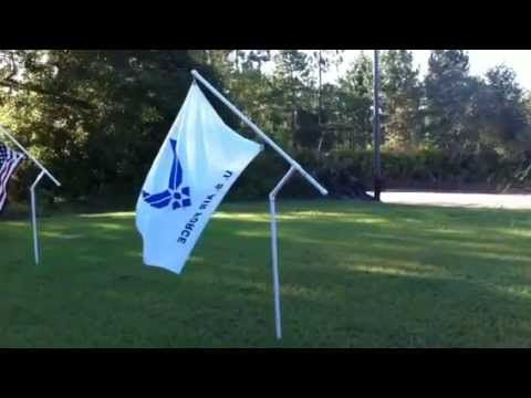 Flag Pole Exclusive Rotating Built Of Pvc With