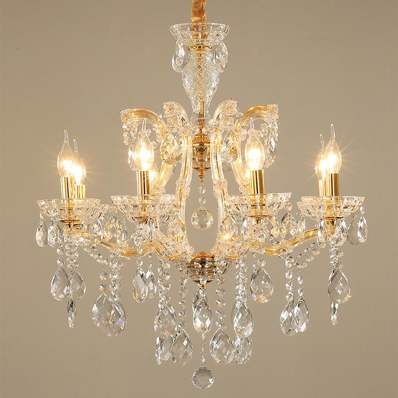 Elegant Crystal Chandelier European Pendant Light Dining Room Bedroom Hq 9155 Chandelier In Living Room Candle Chandelier Chandelier