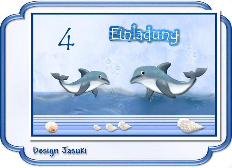 Schön Einladungskarte+Kindergeburtstag+Delfin+von+♪+♫+♪+++Kindergeburtstag +Store++♪+♫+♪+auf+DaWanda.com