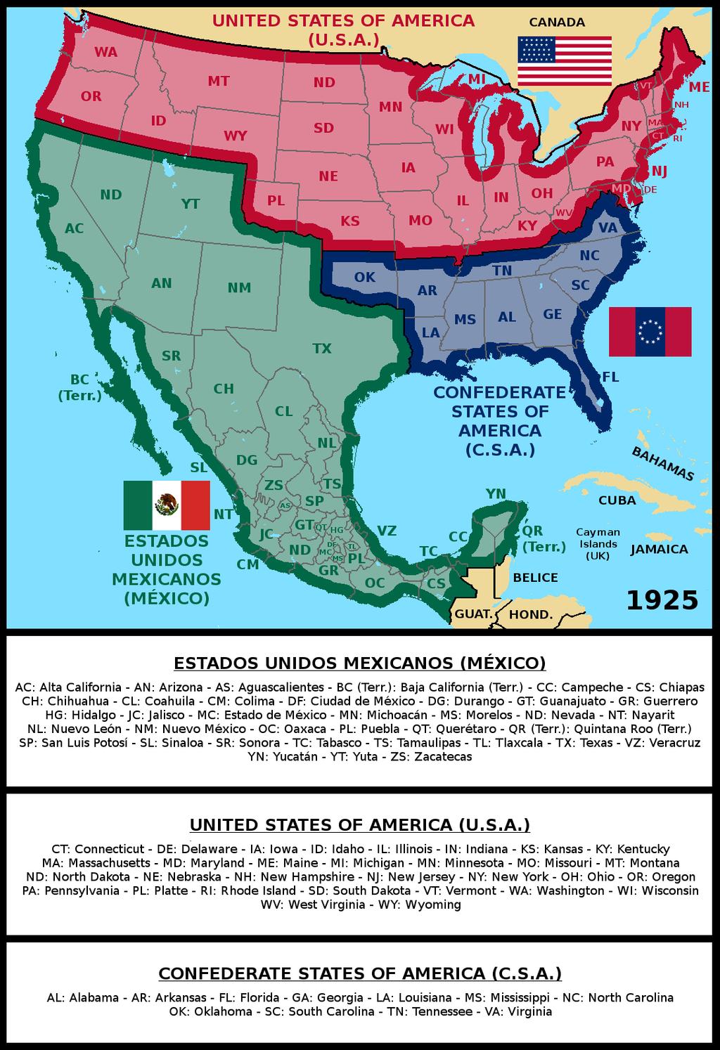 Usa And Csa 1925 By Matritum