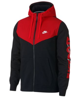 5ca0a75df901 Nike Men s Sportswear Just Do It Fleece Zip Hoodie - White L ...