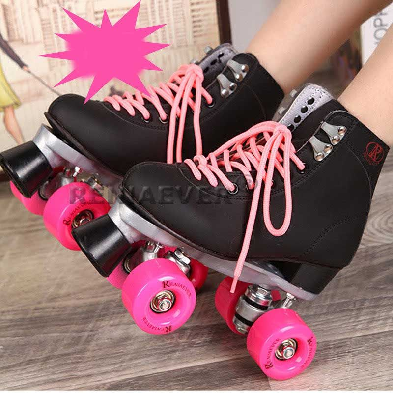 nos pés tiros de loja outlet novo barato patins adulto rosa